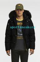 @sportsneakers Mens kalter Winter Daunenjacke 34 3Q Jacke mit weißen oder schwarzen Fuchspelz Kragen 925silver Schere auf dem Arm dunjacka mit Kapuze