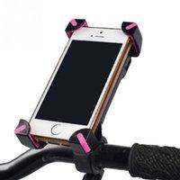 bisiklet için cep telefonu tutacağı toptan satış-Kaymaz Evrensel 360 Dönen Bisiklet Bisiklet Telefon Tutucu Gidon Klip Akıllı Mobil Cep Telefonu Için Montaj Braketi Standı # 25200