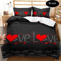 Wholesale romantic bedding duvet sets resale online - 3D designer Romantic bedding sets king size luxury Quilt cover pillow case queen size duvet cover designer bed comforters sets vv