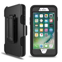 clip gummi großhandel-Verteidiger fall mit gürtelclip holster heavy duty gummi fall für iphone 6 7 8 x xr xs max samsung note 9 s10