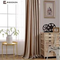 ingrosso rubini blu-Tenda di finestra in tessuto lucido velluto rubino tende oscuranti tende per camera da letto soggiorno decorativo per camere grigio borgogna D19011506