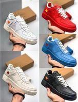 gold silber körbe großhandel-2019 Designer Forces Low MCA University Blau Metallic Silver One Sport Laufschuhe Damen Herren Sneaker Skate 1 CI1173-400 Baskets Zapatos