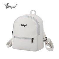 escola kawaii venda por atacado-YBYT marca 2018 novo estilo preppy sólida mulheres kawaii mochila simples padrão de lichia senhoras saco de viagem mochilas escolares estudante