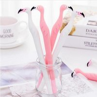 Lytwtw's Creative Cute Swan Kawaii Flamingo Gel Pens Stationery School Officel Supplies Gift Styling Handles GB638