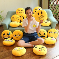 ingrosso animale sorridente-32cm Emoji Smiley Piccolo ciondolo Emotion Yellow QQ Expression Stuffed Animals Peluche per bambola giocattolo per bambini