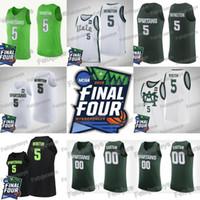 ingrosso miglio verde-5 Cassius Winston 2019 Final Four Michigan State Spartans College Maglia da basket Miles Bridges Draymond Green Magic Johnson Matt McQuaid