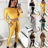 Wholesale Women s Sexy Piece Outfits Club Jumpsuit Long Sleeve Crop Top Shorts Pants Set Colour Select Size S XL