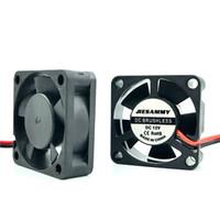 micro ventilador 12v al por mayor-Micro DC Cooler 3010 30x10mm 5V 12V 24V Alta velocidad 8262RPM Manga / 2BALL rodamiento Tarjeta gráfica de 30mm Ventilador Accesorios para impresoras 3d