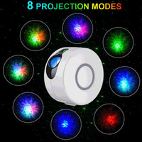 Wholesale lights for dj resale online - USB Remote Starry Galaxy Projector Laser Stage Lamp for Disco DJ LED Night Light Sky Ocean Wave Projection Led Atmospher Decor