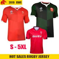 ingrosso dimensione della tazza per gli uomini-Japan 2019 RWC World Cup Wales Home Maglia da rugby WALES NRL National Rugby League Jersey Shirt Camicia rossa da uomo Taglia S-3XL