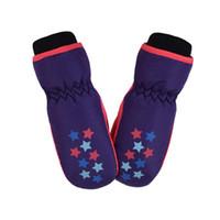 ingrosso guanti invernali invernali-Bambini Inverno Guanti impermeabili Boy Girl Kids Bambini Ispessimento Warm Ski Gloves