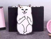 caso do iphone dos desenhos animados de silicone venda por atacado-3d casos de telefone dos desenhos animados para iphone x xr xs max 8 7 6 6 s além de 5 s capa de borracha de silicone dedo médio gato designer de telefone shell pele gsz030