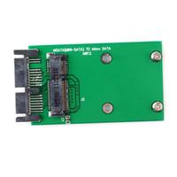 adaptador mini sata ssd venda por atacado-micro sata Mini PCIe PCIe mSATA 3x5cm SSD para 1,8 Micro SATA adaptador de cartão de conversor # 55346