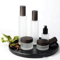 ingrosso bottiglie di pompa di siero di vetro-300pcs 30ml 100ml bottiglia di vetro smerigliato bottiglia per siero / lozione / emulsione / osmetic120ml bottiglia di toner 30 / 50g vaso
