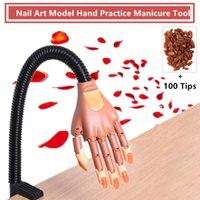 manikür modelleri toptan satış-Yeni Stil Nail Art Uygulama Eller Yumuşak Tırnak Eğitim El Tutucu Modeli ile 100 adet Nail İpuçları Ayarlanabilir Manikür Aracı