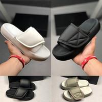 sandalias de plataforma para mujer al por mayor-2019 alta calidad Kanye West para mujer para hombre Diseñador de moda de lujo de la plataforma de bucle del gancho sandalias para mujer hombre zapatillas diapositivas zapatos casuales