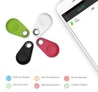 dispositivo antirrobo de alarma de coche al por mayor-Hot Mini Bluetooth 4.0 Localizador GPS Tracker Alarma Buscador de llaves portátil antipérdida Llave del coche Rastreador de mascotas Dispositivo antirrobo de dos vías