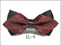 esmoquin negro pajarita blanca al por mayor-Corbata de lazo de moda para hombre Bowtie Tuxedo Classic Color sólido Boda Rojo Negro Blanco Verde Mariposa Corbata de Marca