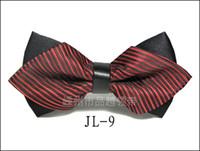 arc rouge vert achat en gros de-Noeud papillon de mode pour les hommes Bowtie Tuxedo Classique Couleur unie Fête de mariage Rouge Noir Blanc Vert Papillon Cravat Marque