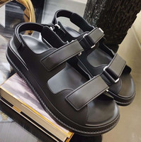 Wholesale sexy pvc rubber leather women for sale - Group buy Women Sandals Boutique Travel Simple noble Thick bottom Fashion Brand Sexy Exposed toe ladies hollow casual sandals