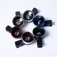 beste samsung kamera großhandel-2 in 1 Universal Clip Fischauge Weitwinkel Makro Telefon Fisheye Glas Kamera Objektiv für iPhone Samsung günstigen Preis + beste Qualität
