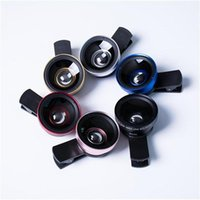Wholesale cheap camera lens online - 2 in Universal Clip Fish Eye Wide Angle Macro Phone Fisheye glass camera Lens For iPhone Samsung Cheap Price Best quality