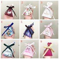 ingrosso scatole di partito di caramella dei bambini-15 stili Unicorn Creative Candy Boxes Decorazioni per feste Cartone animato animali Cut Party Candy Box per i bambini