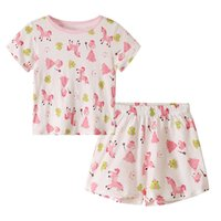 Wholesale frog clothing for sale - Group buy Newborn Girls Clothing Set Cartoon Girls Horse Frog Printed T Shirt Shorts Summer Baby Girl Designer Clothes T