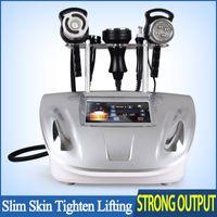 bipolar rf yüz makinesı toptan satış-Yeni Taşınabilir Ultrasonik Vakum Kavitasyon Zayıflama Selülit Makinesi Monpolar Bipolar RF Yüz Germe Microcurrent Vücut Yüz Göz Masajı