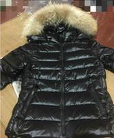 ingrosso parka marrone delle donne-L'alta qualità delle NUOVE donne addensare Piumini collo di pelliccia d'inverno ricco di Down Parka Slim Breve Giù cappotto Outerwear Nero Marrone Taglia S-2XL