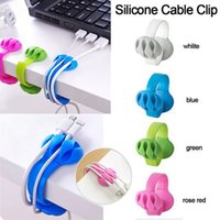 kopfhörer draht veranstalter großhandel-Kabelclip Line Desk Clips Kopfhörer Wickler Data Organizer Office Drahtseil Kabelhalter Clips Ladekabel Desk Cables Clip