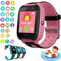 лучшие детские часы gps оптовых-Умные часы для детей Q9 Дети с анти-потерянными умными часами SmartWatch Часы LBS Tracker SOS Call для Android IOS Лучший подарок для детей