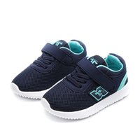 Wholesale black children bowtie resale online - Skhek Kids Shoes For Boys Girl Children Casual Sneakers Baby Girl Air Mesh Breathable Soft Running Sports Shoe Pink Silver Y19061906