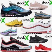 nike air max 97 airmax VM off white Schuhe Männer Designer Schuhe unbesiegt Pull Tab Frauen Laufschuhe aus Triple weiß schwarz South Beach Trainer