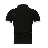 черные серые майки для мужчин оптовых-Высокое качество рубашки поло Мужчины 2019 летний бренд человек рубашка поло бизнес повседневная хлопчатобумажная рубашка серый черный M-XXL