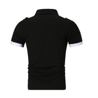 camisas grises negras para hombres al por mayor-Camisa de polo de alta calidad para hombre 2019 Marca de verano Hombre Camisa de polo Camisa de algodón casual de negocios Gris Negro M-XXL