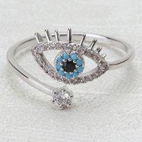 ingrosso i cattivi occhi squillano-gioielli di design zircone anelli diabolici occhi aperti anelli zirconi per le donne semplice moda calda senza spese di spedizione