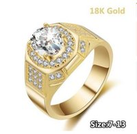 Wholesale gold plated ring 18k tungsten for sale - Group buy WholesaleNew Man K Gold Plated Ring Top Quality Crystal Twist Classical Cubic Wedding Rings For Women ct White Zirconia ring Dropshipping