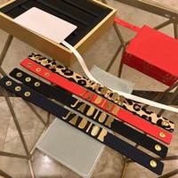 estampado de leopardo vintage al por mayor-2019 nuevo brazalete de cuero con estampado de leopardo de joyería vintage para mujer Accesorios de marca de diseñador de moda clásico para mujer
