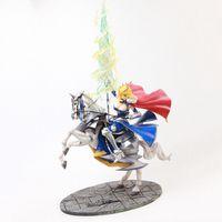 anime figürleri kılıcı toptan satış-45 cm Anime Action Figure Altria Pendragon Kader Grand Sipariş FGO Saber Lancer At Sırtında Gunman Ver Modeli PVC Dekorasyon Doll Yeni