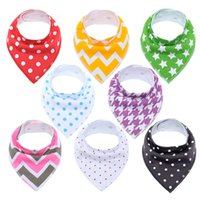 Wholesale perfect baby gifts resale online - Cotton Baby Bibs Waterproof Burp Cloths Absorbent Bandana Dribble Bib With Adjustable Snaps Saliva Towel Pack Perfect Gifts Q190529