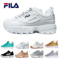 высококачественный кроссовки оптовых-Высокое качество Филакроссовки Disruptors повседневная обувь Triple белый черный серый Женщины мужчины специальные секции спортивные кроссовки увеличилась 36-44