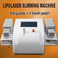 büyük kilo kaybı toptan satış-Diyot lipo lazer sistemi kilo kaybı için lipolaser makinesi LipoLaser Zayıflama Ekipmanları 12 adet 8 büyük pedleri ve 4 küçük pedleri