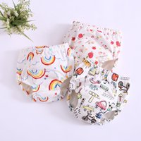 Wholesale cotton cloth diapers resale online - 17 Colors Baby Toddler Training Pants Layers Cotton Changing Nappy Infant Washable Cloth Diaper Panties Reusable EEA709