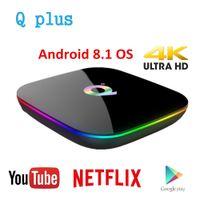 ingrosso q p-Q Plus Smart TV Box Android 9.0 TV Box 4 GB Ram 32 GB 64 GB Rom 1080 p 4K H.265 USB3.0 IP TV Netflix H6 PK S905x2 Set Top Box