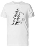 ilustraciones en tinta al por mayor-Camiseta de Ink Artwork Soccer Player para hombre - Imagen de moda