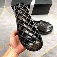 ropa de pvc para niñas al por mayor-2019SS para mujer piscina de goma sandalias de deslizamiento pisos zapatillas Chicas Open Toe Estilo Casual Liso PVC Ropa Sandalias tamaño euro 35-39