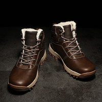 Wholesale boys half boot for sale - Group buy New Christmas Winter Shoes Man Leather Boots Men Casual Boots Warm Fur Booties Boy Ankle Boots Cowboy Shoes Flat Platform Shoes Size