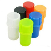 Wholesale spice bottle storage resale online - Plastic Tobacco Grinder Bottle Shape Smoking Pipes Multi function Herb Spice Grinding Crusher Storage Container Case PPA235
