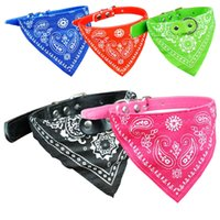 Wholesale Adjustable Pet Dog Cat Bandana Scarf Collar Neckerchief Dog Bandana Triangle Scarf Collars Pet Cat Puppy Collars Fashion Dog Necklaces Pet S